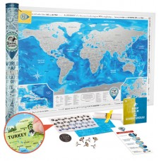 DISCOVERY MAP WORLD SILVER на английском