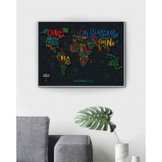 Travel Map® LETTERS World